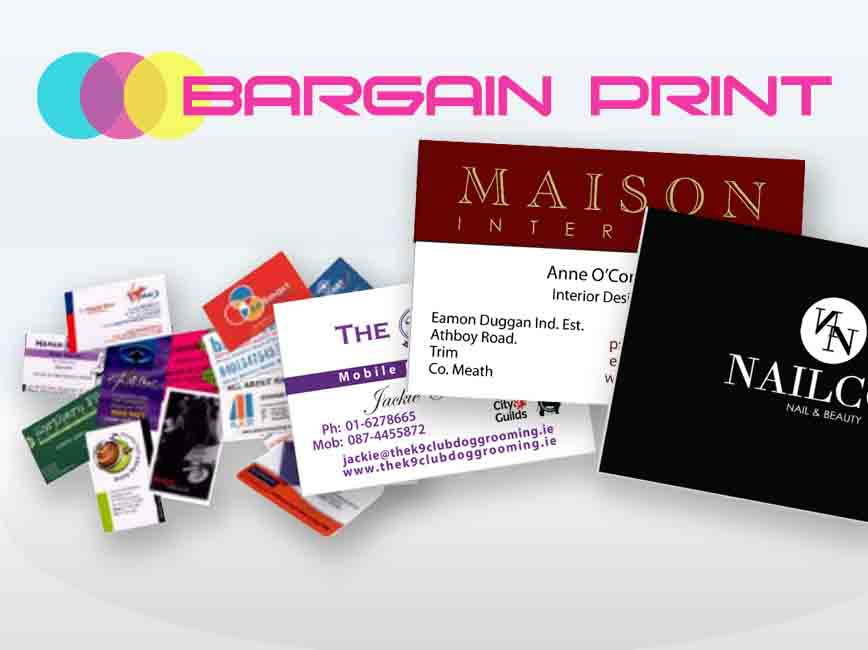 business cards from bargian print image