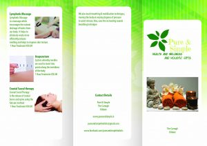 pure and simple Brochure Printing